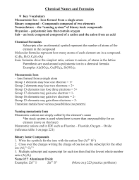 transition metals that form only one monatomic cation chemical names and formulas notes