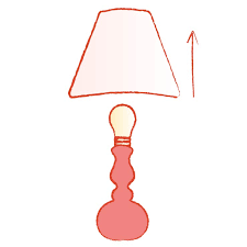 remove the lamp shade