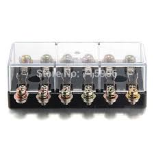 fused junction box picture more detailed picture about shipping car audio fuse box 1 in 6 out holder block amp 12v black