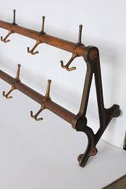Antique Wall Coat Rack Antique Oak and Brass Wall Coat Rack at 100stdibs 16