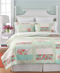 Best 25+ Queen quilt ideas on Pinterest | Quilts, Etsy quilts and ... & Martha Stewart Collection Aqua & Coral Patchwork Posey Full/Queen Quilt -  Quilts & Bedspreads Adamdwight.com