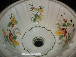 Painting A Porcelain Sink Bathroom Design Lovely Hand Painted Under Edge Basin Shown In