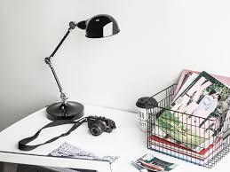cabris contemporary metal table lamp black shade