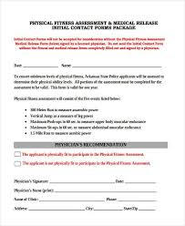 Fitness Assessment Form Fascinating 48 Fitness Assessment Form Samples Free Sample Example Format
