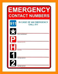 Personal Contact Template Emergency Contact Phone Number List Template Telephone