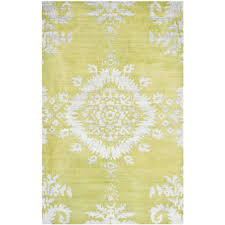 Safavieh Hand-knotted Stone Wash Chartreuse Wool/ Cotton Rug (5' x 8') -  Free Shipping Today - Overstock.com - 16107026