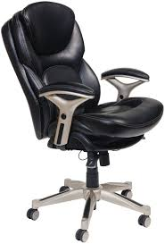 com serta works executive office chair with back in motion technology bonded leather black kitchen dining