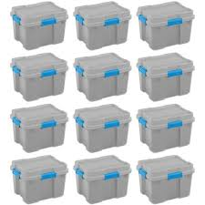 Get free shipping on qualified heavy duty storage bins or buy online pick up in store today in the storage & organization department. Sterilite 20 Gallon Heavy Duty Plastic Gasket Tote Stackable Storage Container Box With Lid And Latches For Home Organization 12 Pack Target