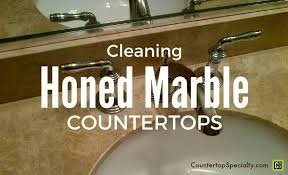 cleaning marble tips honed marble countertops bathroom sink and faucet