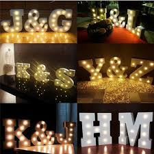 diy lighting for wedding. White DIY Alphabet LED Light Strip UP Standing Hanging Wooden Letter Lights Living Room Wedding Diy Lighting For