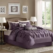 modern purple chevron bedding