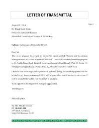 Example Letter Of Transmittal Free Letter Of Transmittal
