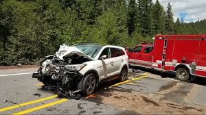oregon state police say a boise man was killed saay in a crash involving his motorcycle and two other vehicles in linn county oregon