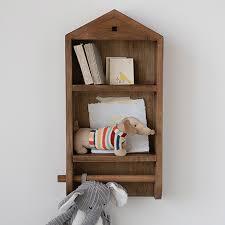 house shaped wall shelf organizer