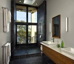 New York Unique Towel Bars Bathroom Modern With Tile Floors Almond - Contemporary bathroom vanity lighting