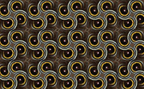 An example of a geometric pattern design created in SymmetryMill