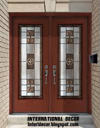 american wooden doors with stained