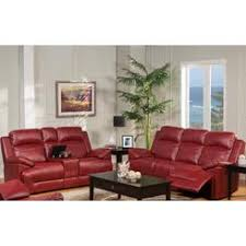 Red leather living room furniture Set Esofastore Modern Luscious Red Unique Leather Dual Recliner Sofa Set 3pc Set Living Room Furniture Sears Sofas Loveseats Sofa Set Sears