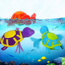 Cute Swimming Turtle Toy Baby Bath Toy Chain Clockwork Wind-up ...