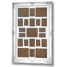 large antique white ornate multi photo frame
