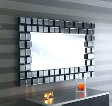 large black wall mirror extra multi facet framed rectangular