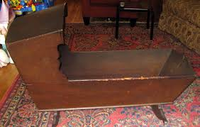 antique wood baby crib cradle 1700 s 18c pickup only ny