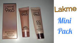 lakme 9 to 5 mini pack review