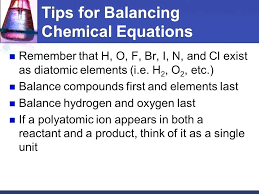 tips for balancing chemical equations easy equation