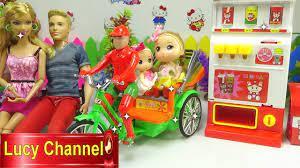 Đồ chơi Lucy Búp bê Baby Barbie & ken đi chơi công viên Toy story Stop  motion - YouTube