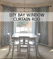 how to decorate a al diy bay window curtain rod tutorial