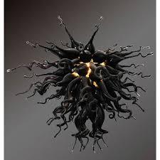 viz art glass modern classics obsidian small chandelier