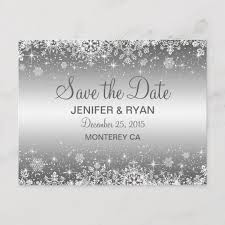 Winter Wedding Save The Date Cute Winter Wedding Save The Date Postcard Zazzle Co Uk