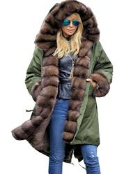 Amazon.com: Roiii Ladies Quilted Casual Vintage Faux Fur Collar ... & Amazon.com: Roiii Ladies Quilted Casual Vintage Faux Fur Collar Warm Thick Womens  Jacket Coat: Clothing Adamdwight.com