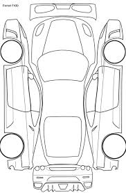 Car plan diagram for ptg readings etc detailing world in of a