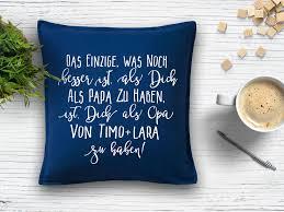 Sprüche Kissen Opa Mit Namen Geschenk Sofa Geschenkidee Opi Enkel Enkelkinder Vatertag