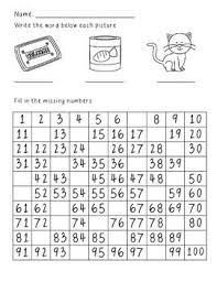 Missing Number Hundreds Chart Homework Hundreds Chart 1st