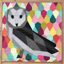 Animal Quilt Patterns Mesmerizing My Owl Barn Geometric Animal Quilt Patterns By Violet Craft
