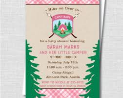 Printable Girlsu0027 Party Themes  Popular Invitations And Decor For Camping Themed Baby Shower Invitations