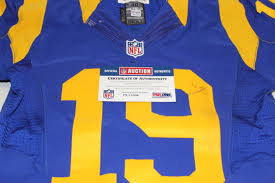 6 Welker 2015 Rams - december Jersey Game Auction Wes Nfl Used Throwback