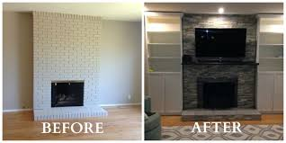 remodel fireplace ideas before and after