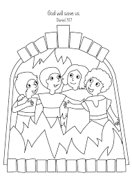 Amazing Fiery Furnace Coloring Page Shadrach