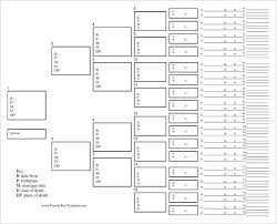 Printable Family Tree Chart 4 Generations Ancestor Template