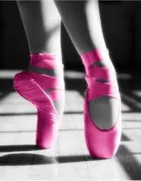 ballet shoes. pink toe shoes, listen honey, if a gal has to bunch up her toes into ballet for goodness sakes, let them be hot pink! shoes