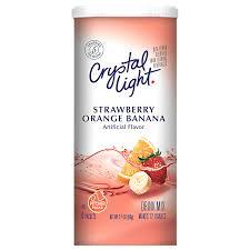 Crystal Light Drink Mix Strawberry Orange Banana Crystal Light Strawberry Orange Banana Drink Mix 6 Count Caniste Net Wt 2 4 Oz