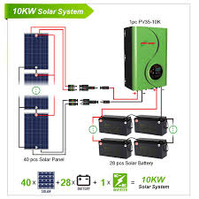 10kw solar power home system