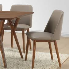 baxton studio lavin beige faux leather upholstered dining chairs set of 2 2pc 6135 hd the home depot