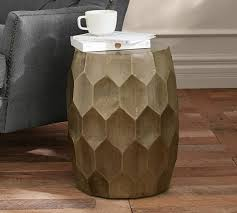 vince metal clad accent stool