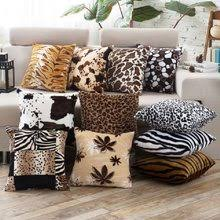 skin pattern tiger leopard soft fleece sofa cushion cover decorative pillow case cover decorations