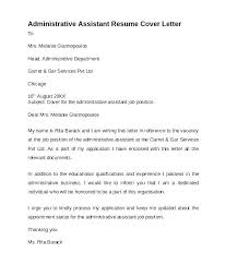 Examples Of Administrative Assistant Resumes Cover Letter Samples Administrative Assistant Financial