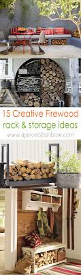 15 firewood storage and creative firewood rack ideas for indoors and outdoors lots of great